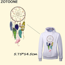 ZOTOONE Feathers Dreamcatcher Patches DIY Heat Transfers For Clothes Girl Stickers Thermal Transfer Paper Applique B