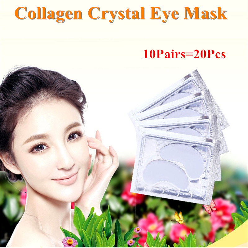 20Pcs Beauty White Crystal Collagen Eye Mask Hotsale Eye Patches Moisture Eye Mask,Anti-Aging Face Care Skin Care Eye Patches