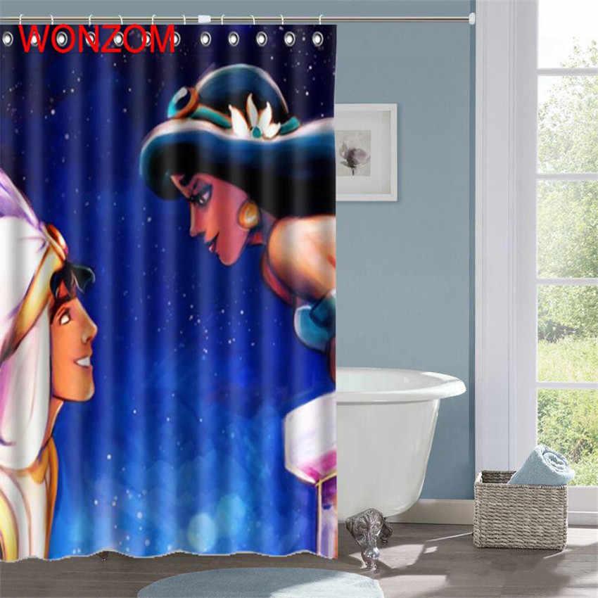 WONZOM 1ชิ้นเงือกนางฟ้ากันน้ำม่านอาบน้ำห้องน้ำสาวตกแต่งเบลล์ตกแต่งC Ortinaเดอมูรัต2017อาบน้ำผ้าม่านของขวัญ