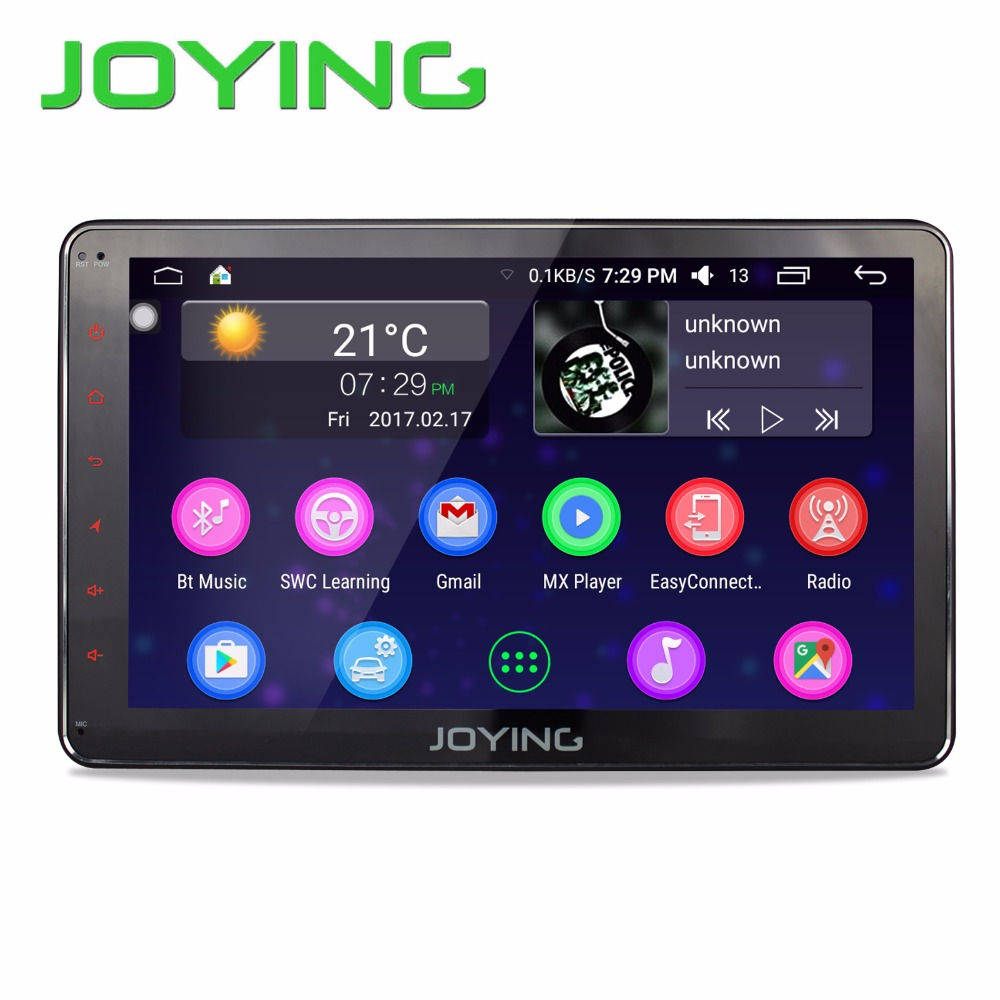 """Prix pour Joying 10.1 """"2 GB + 32 GB Voiture Stéréo Autoradio GPS Navigation Pour Universel Unique 1 Din Android 6.0 Quad Core 1024*600 Tête Unité"""