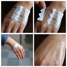 100 Pcs/set  Transparent Tape PU film Adhesive Plaster Waterproof Anti allergic Medicinal Wound Dressing Fixation Tape