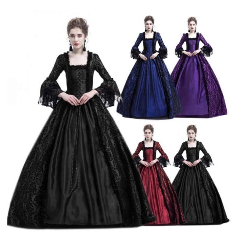 2018 Lace Long Sexy Plus Size Party Cosplay Helloween Costume for Women  Princess Dress Women Elegant 8bd0a4f23567