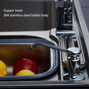 Image 3 - מטבח סבון dispenser משאבת 304 נירוסטה בקבוק נחושת ראש מטבח כיור נוזל סבון מכשירי יד