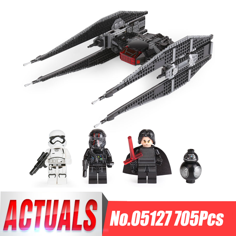 lepin 05127 Kylo Star Ren Tie starship model Fighter first order building blocks bricks Boy Toys Wars LegoINGlys 75179 Christmas new 1685pcs lepin 05036 1685pcs star series tie building fighter educational blocks bricks toys compatible with 75095 wars