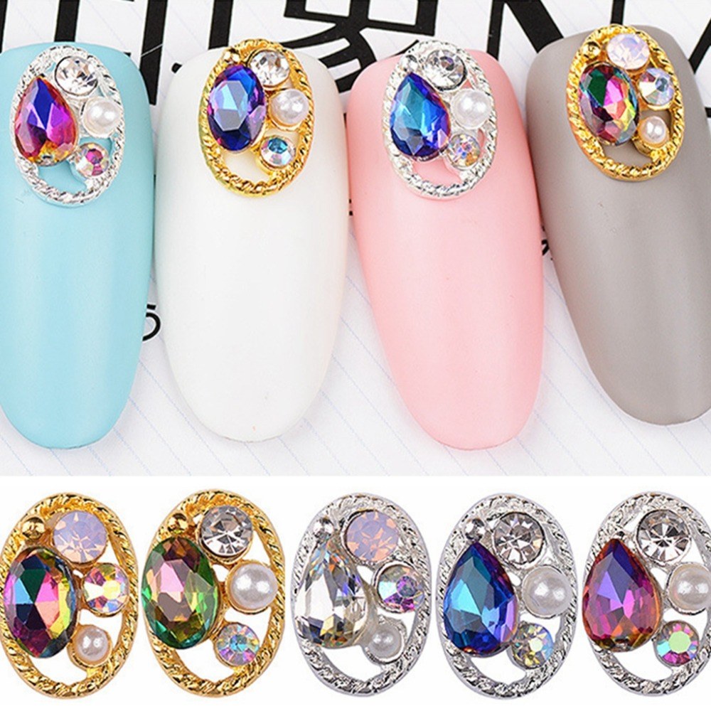 10pcs Mixed style Nail Art Decoration Rhinestones 3D metal Hollow Oval frame glitter studs nails accessoires Manicure DIY tools 10pcs nail art stamping printing skull style stainless steel stamp for diy manicure template stencils jh461 10pcs