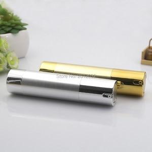 Image 4 - 500 pcs Luxo Ouro Prata Vazio Sem Ar garrafas de Bomba Mini Portátil Vacuum Tratamento Loção Cosmética garrafa Viagem F20171524