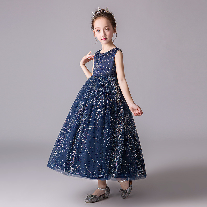 US $26.13 40% OFF|Plus Size Girls Dress Elegant Evening Prom Dress for  Girls 11 12 13 14 Years Old Printed Long Frocks Princess Costume for  Party-in ...