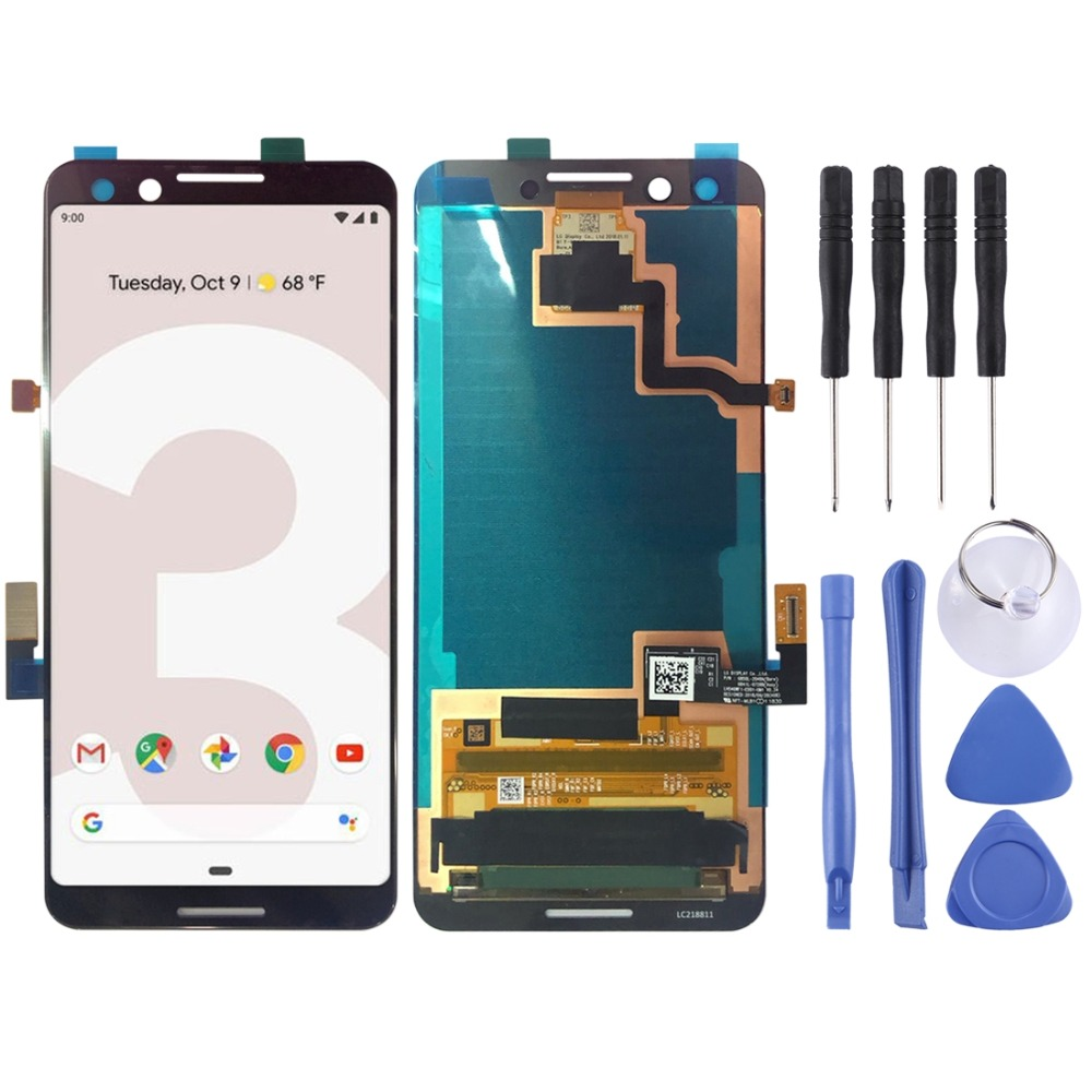 LCD Screen and Digitizer Full Assembly for Google Pixel 3LCD Screen and Digitizer Full Assembly for Google Pixel 3