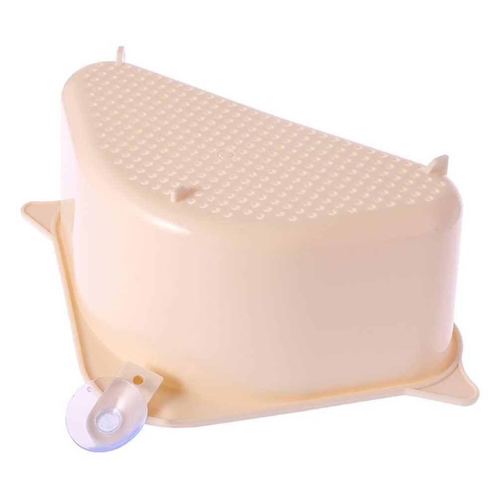 Угловая присоска полый Быстрый дренажный полка для ванной кухонная корзина органайзер для кухонных платных