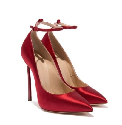 Black/apricot satin pointed toe high heel pumps for women Super high thin heel shoes Red wedding shoes High heel pumps 12cm big size 48 elegant office women platform pumps 12cm super high thin spike heel dress party pointed toe red patent leather pumps