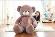 huge plush high quality light brown bear toy large bow teddy bear doll gift about 160cm176