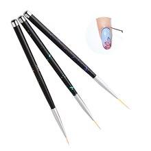 3pcs/set Nail Art Liner Painting Pen 3D Tips DIY Acrylic UV Gel Brushes Crystal Acrylic Thin Liner Drawing Pen