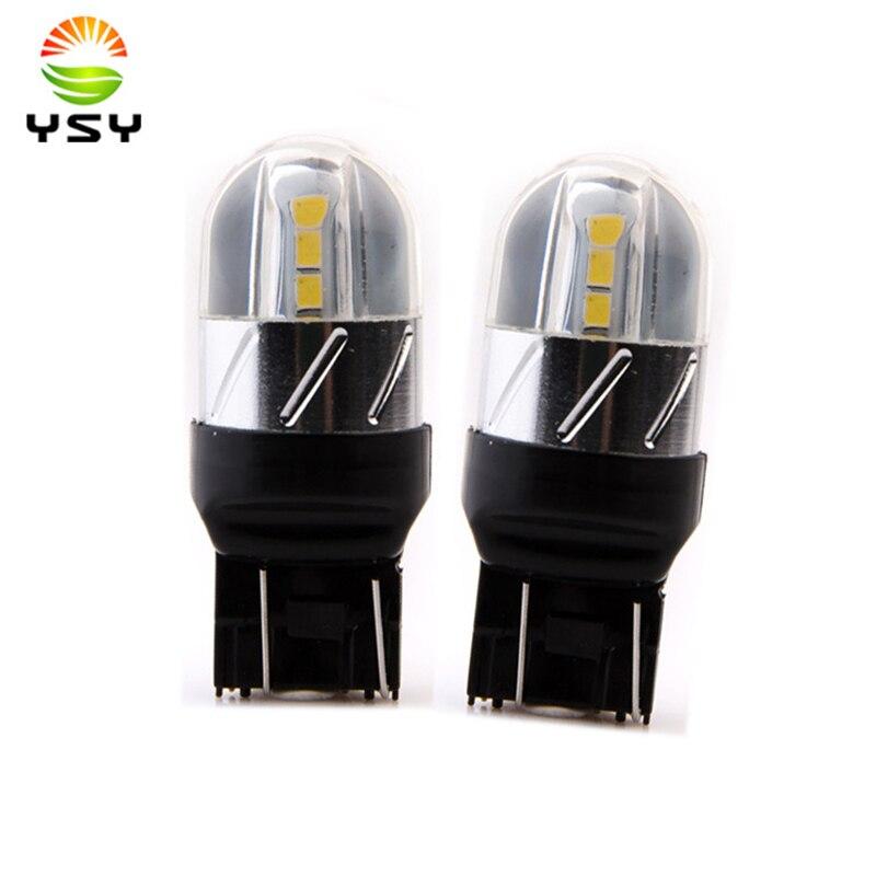 2шт Сид T20 7440 7443 w21/5 Вт 3030 6SMD свет автомобиля Сид switchback сигнала поворота тормоз Лампа заднего обратного лампы DC 12-24В
