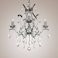 5 Lights K9 Luxury Crystal Chrome Wrought Iron Chandelier LED Lighting E14 E12 Light For Dining