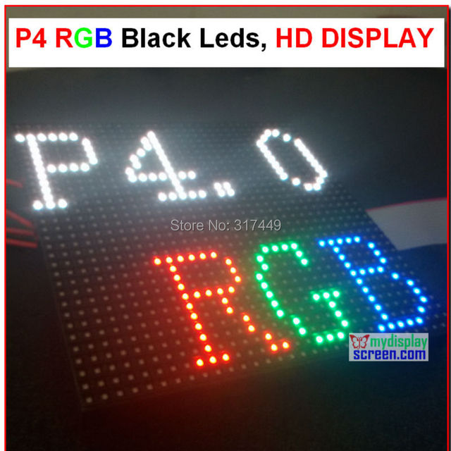 p4 led display module ,4mm pixel indoor rgb full color led display screen  1/16 scan 128*128mm 32*32 pixel ,HD p4 led module