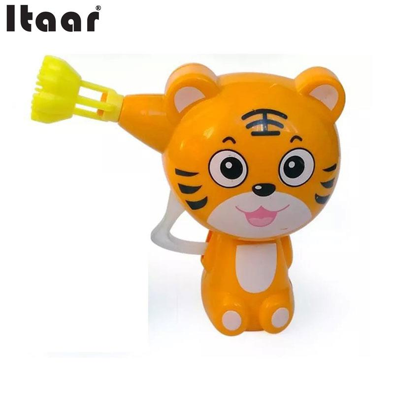 Kids Cartoon Animal Soap Water Bubble Gun Blower Machine Outdoor Toy Gift