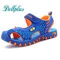 2017 niños zapatos de verano 3D dinosaurios muchachos de la manera sandalias cortan antideslizantes niños zapatos de playa para niños boy