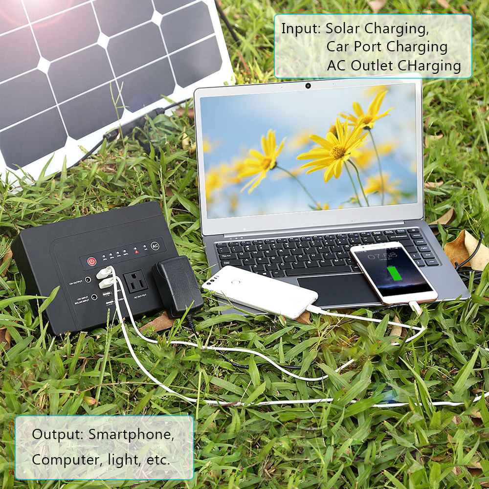 200 W/300 W Portable Solar Generator Voeding met Inverter USB LCD Display Energie Opslag Generatie voor Outdoor thuis Auto - 5