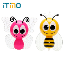 iTimo Colorful Bee Butterfly Animal LED Night Light EU Plug Children Lamp Home Decoration  Lovely Cute Baby