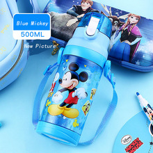 Disney 500ml kids Water Bottle Portable Tritian Material BPA Free Safe For Drinking Kids Water Bottle Mickey With Rop
