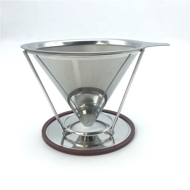 Portable Stainless Steel Coffee Filters Reusable V Type