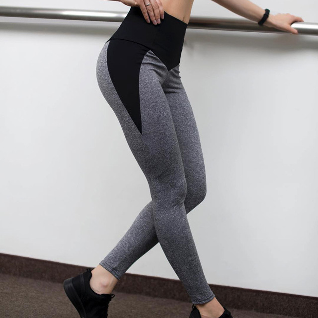 bafca0ccbce1a1 Women Leggings High Waist Push Up Elastic Casual Patchwork Workout Fitness  Sexy Pants Bodybuilding Ladies Legging Clothing