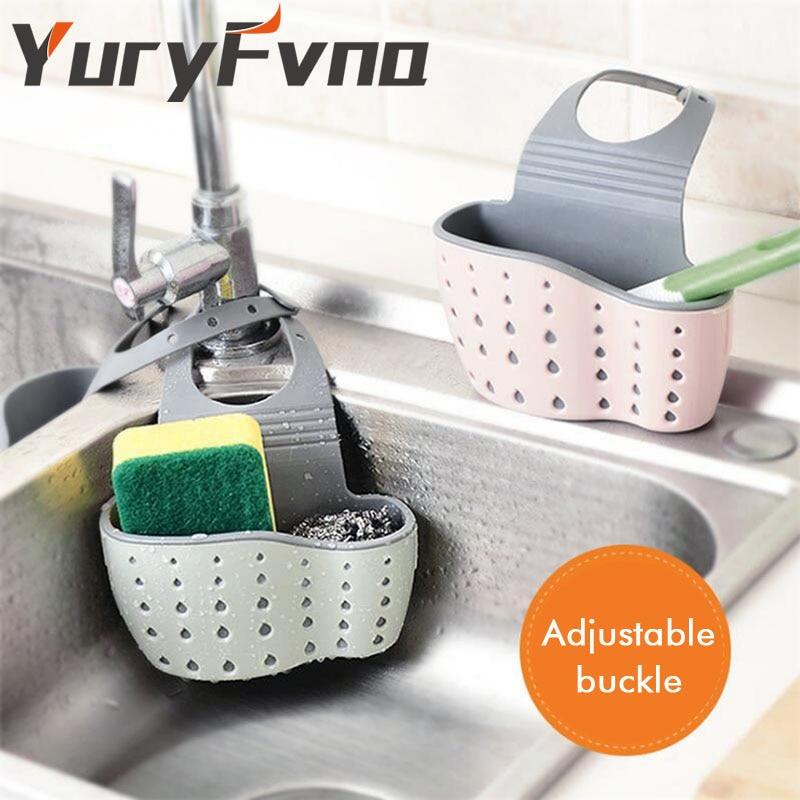 YuryFvna Set de 2 portaesponjas Sponge Caddy con orificios de drenaje - Organización y almacenamiento en la casa