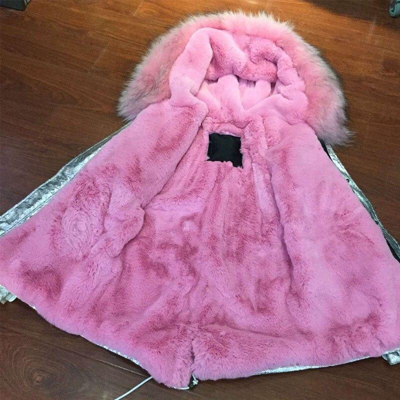 Belle Femmes Laveur long Survêtement Short Raton De D'hiver Manteau Fourrure Argent Style Manteaux Court Capuchon En À Rose Cuir Veste Parka 7vYybf6gIm