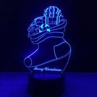 Simple Creative Night Light Desk Lights Table Lamp Acrylic ABS Socks 3D Home Decor Room Lighting