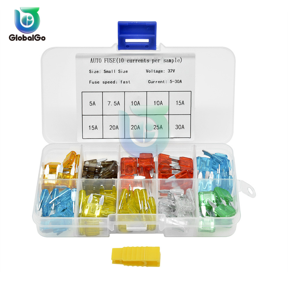 100pcs Lot Small 5 30A Amp 32V Automotive Blade Fuse Auto Car Fuse 15A Box Holder Set Truck Fuse Clip in Fuses from Home Improvement