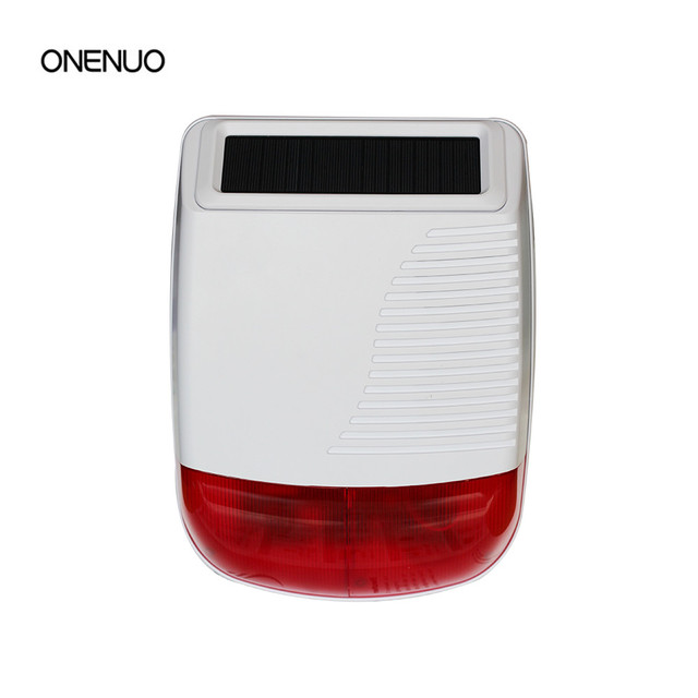 Wireless Personal Alarm Solar Power Outdoor Sound Light Siren Free Shipping