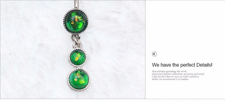ТЕЛА ПАНК Лето Пупка Кольца Белый/Зеленый/Синий/Темно Зеленый