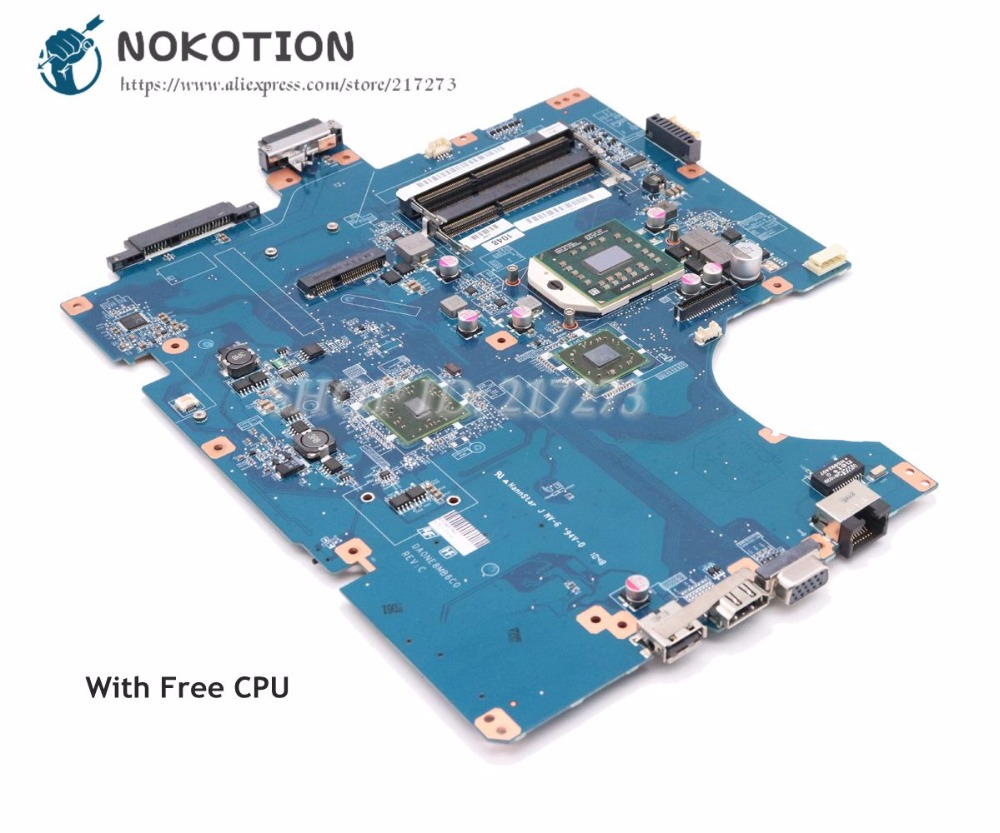 NOKOTION For Sony vaio VPCEF Laptop Motherboard Socket S1 DDR3 Free CPU DA0NE8MB6C0 A1784745A A1823509A a1843425a motherboard for sony vaio vpcel2 vpcel22fx laptop motherboard 48 4ms01 011 mbx 252 e450 cpu ddr3