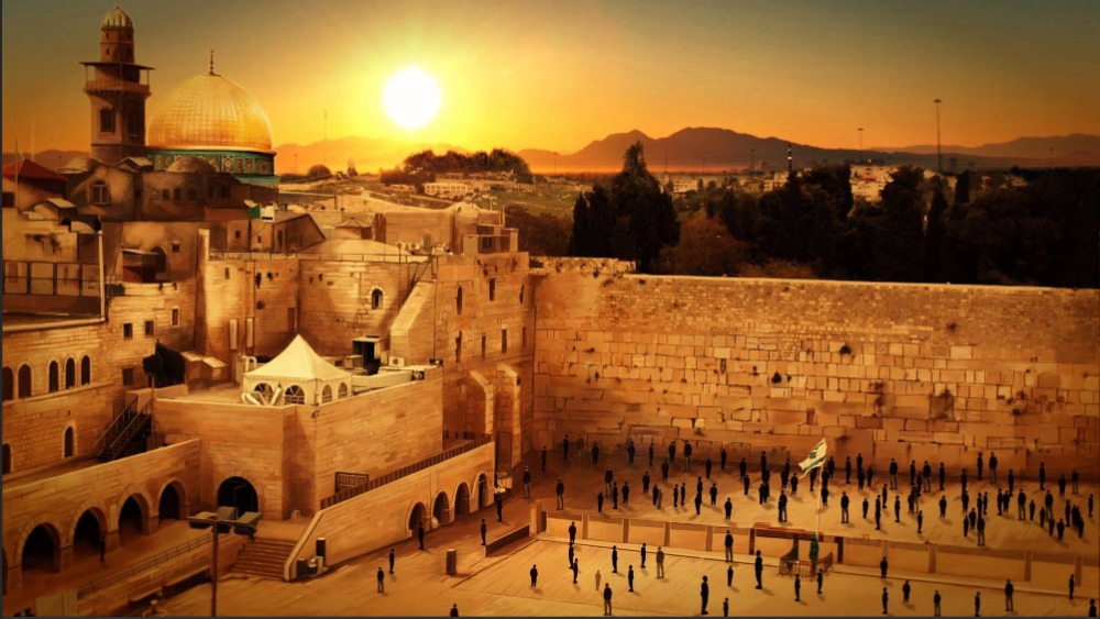 7x5ft Israel Sunset Jerusalem West Wailing Wall Sunset