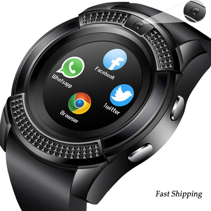 Sport Smart Uhr Männer Frauen Bluetooth SmartWatch Touchscreen Armbanduhr mit Kamera/SIM Karte Slot, silikon Smart Handgelenk
