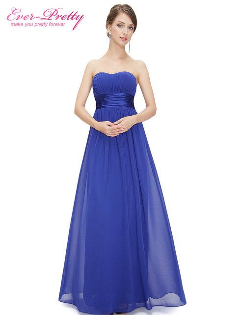 Long Evening Dress Ever Pretty EP09955 Sleeveless Ruched Bust Black Woman  Maxi Chiffon 2017 Fast Shipping Vestidos Dresses