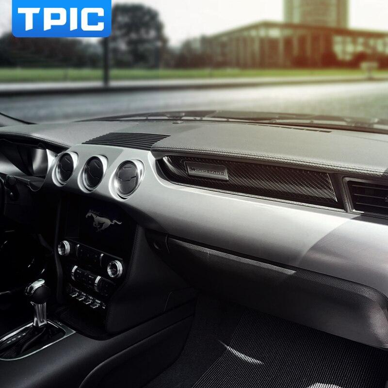 Pour Ford Mustang en fibre de carbone Voitures de voitures Couvre volant Garniture Int/érieur D/écor Decal Accessoires