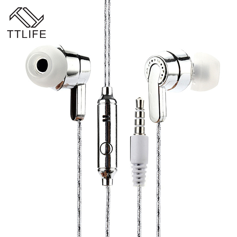 Original TTLIFE Wired Sports Earphones SP005 HiFi Stereo Headphone Music In-ear Headset With Mic for Android Phone Xiaomi Mp3
