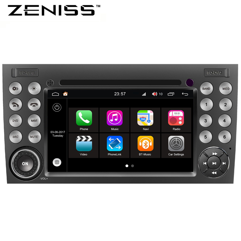 ZENISS S200 Android8.0 Car DVD player for MERCEDES BENZ SLK R171/SLK200/SLK280/SLK350 with Quad Core GPS Radio seicane 2din android 8 0 7inch car radio stereo gps multimedia player for mercedes benz slk class slk200 slk280 slk350 slk55