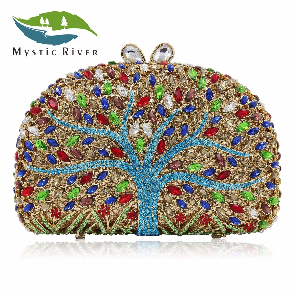 Mystic River Brand Women Evening Bags Top Quality Tree Shape Designer Handbag Party Purse сумка river island river island ri004bwzyz56