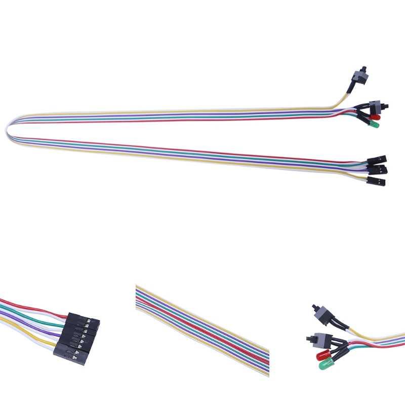 65 см настольный компьютер ПК корпус ATX мощность на Сброс переключатель кабель с HDD светодиодный свет