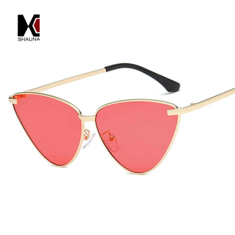3d7310616574 ... SHAUNA Trending Women Cat Eye Sunglasses Fashion Metal Frame Men Purple  Mirror Coating Reflective Lens Shades
