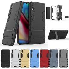 For VIVO Y93 Shockproof Armor Phone Case Hybrid Hard PC Soft Rubber TPU 2 in 1 Full Back Cover Shell Holder Coques