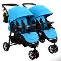 Crianças e bebê gêmeo carrinho de criança duplo choque pode dividir vários filhos de nascimento pode sentar plana dobrável garrafa cheia entrega gratuita