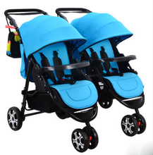 Infants and twin baby stroller double shock can split multiple birth children can sit flat folding