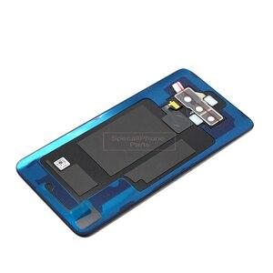 Image 3 - ل LG V40 ThinQ V405QA7 V405UA V405TAB V405UA0 عودة الإسكان/الخلفية غطاء الباب الخلفي مع بصمة كاميرا زجاج هدية