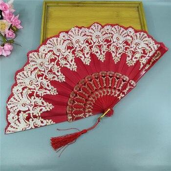 Abanico de mano plegable estilo Retro europeo Para mujer, abanico de baile,...
