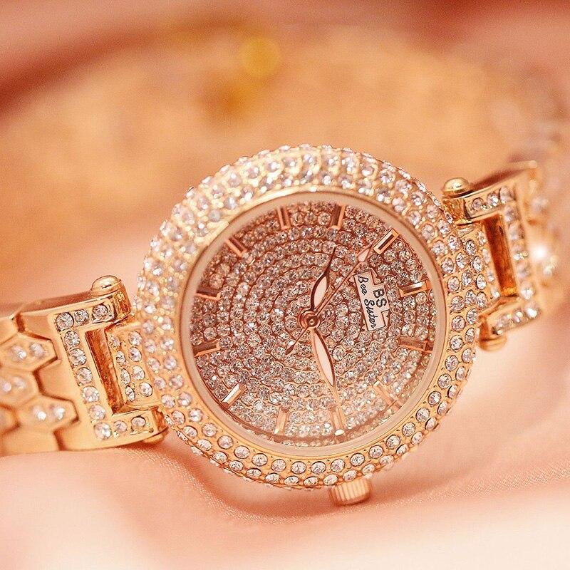 Women Watches Luxury Brand Watch For Women Stylish 2019 Hot Sale Diamond Watch Fashion Ladies Watch Causual Female Wristwatch in Women 39 s Watches from Watches