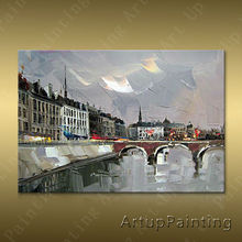 Paris Street Art Painting Home Decor Decoration Oil painting Wall Pictures for living room Decor	paint art paint7