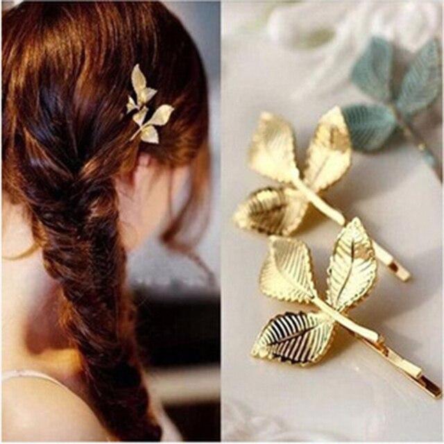 Золотые заколки для волос